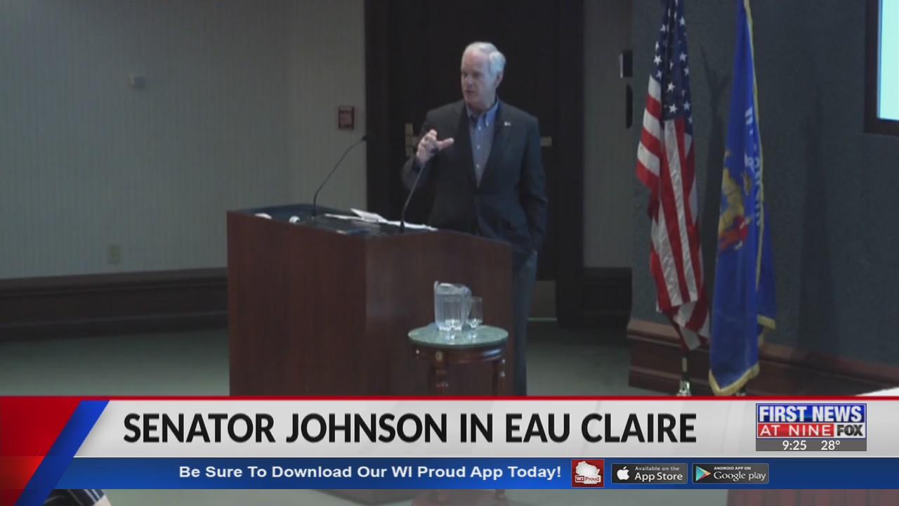 Senator Ron Johnson comments on COVID-19 relief bill in Eau Claire