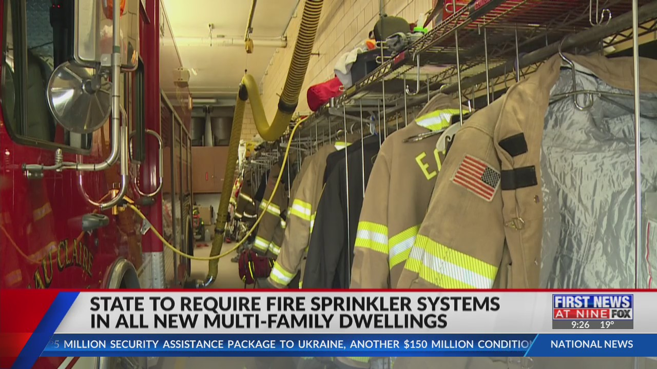 Wisconsin to require new, multi-family apartment buildings have fire sprinkler systems