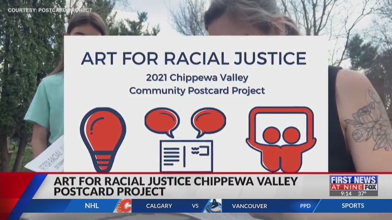 Art for racial justice Chippewa Valley Postcard Project