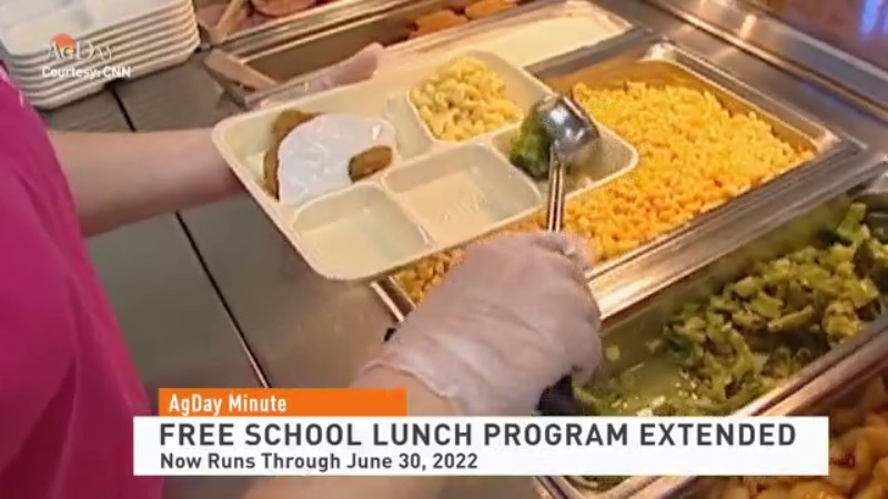 Free school lunch program extended
