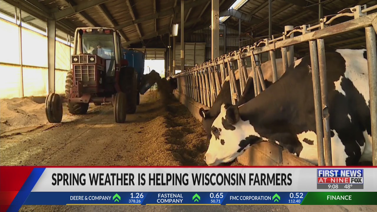 Spring weather helps Wisconsin farmers tremendously