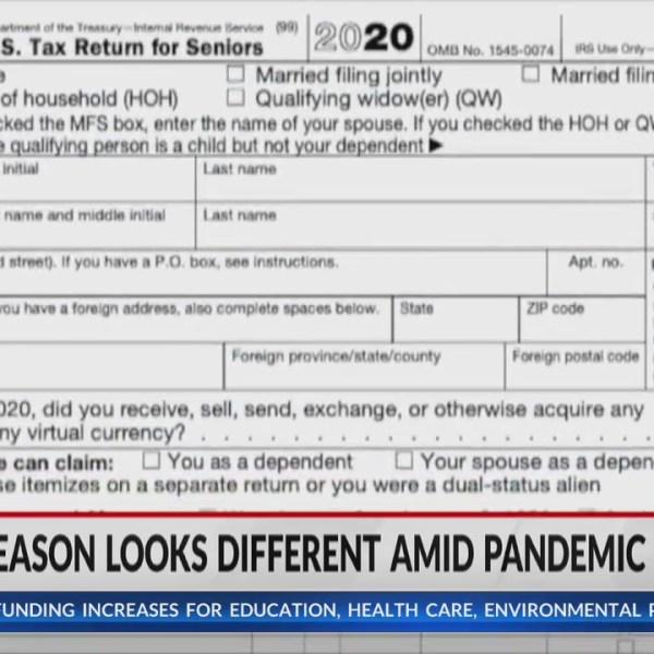 Tax season looks different amid COVID-19 pandemic