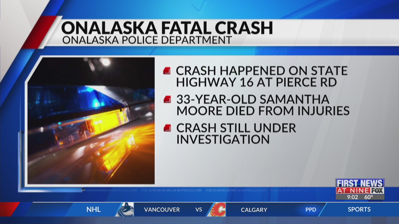 33-year-old West Salem woman dies after Onalaska crash