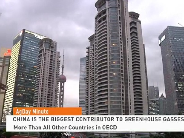 China is the biggest contributor to greenhouse gasses