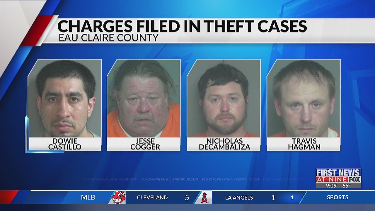Four people charged in connection with Eau Claire burglaries
