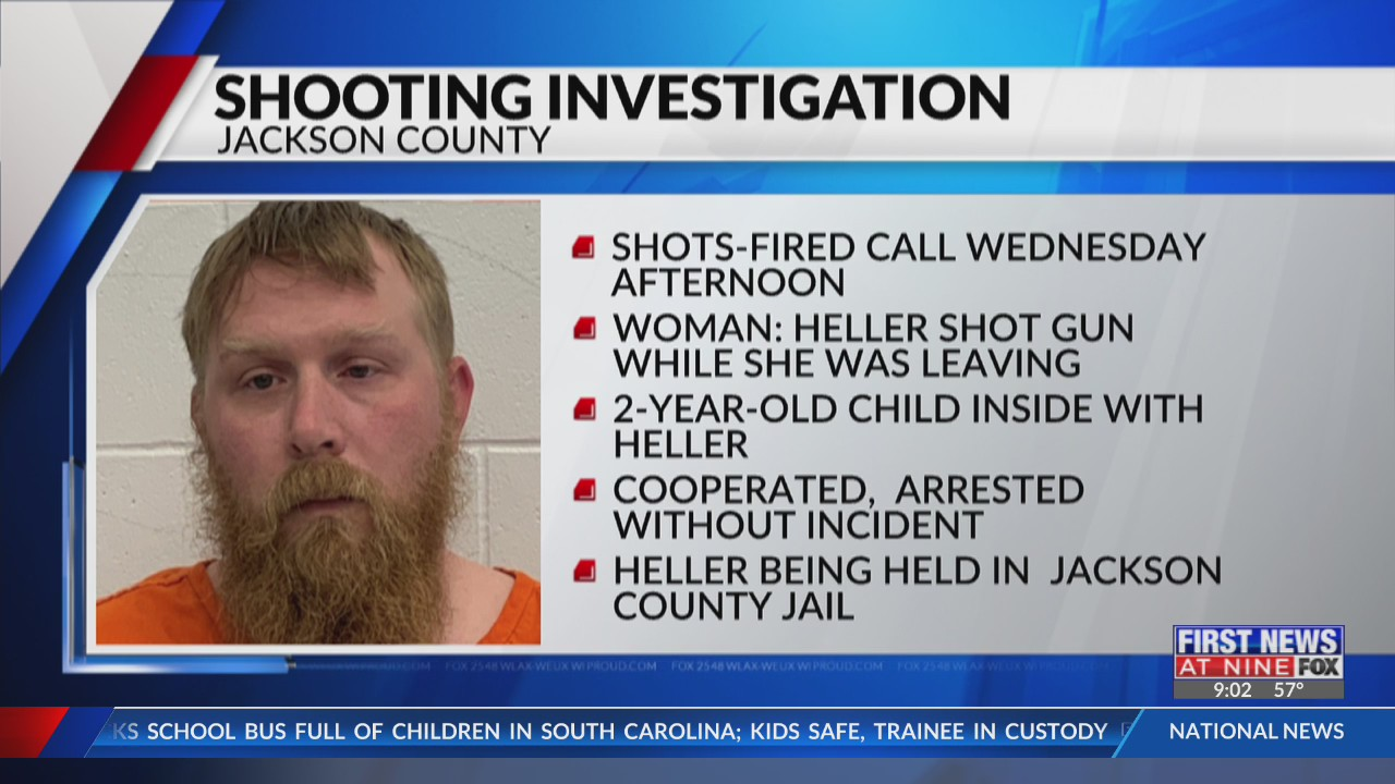 Jackson County man arrested, accused of firing gun at wife