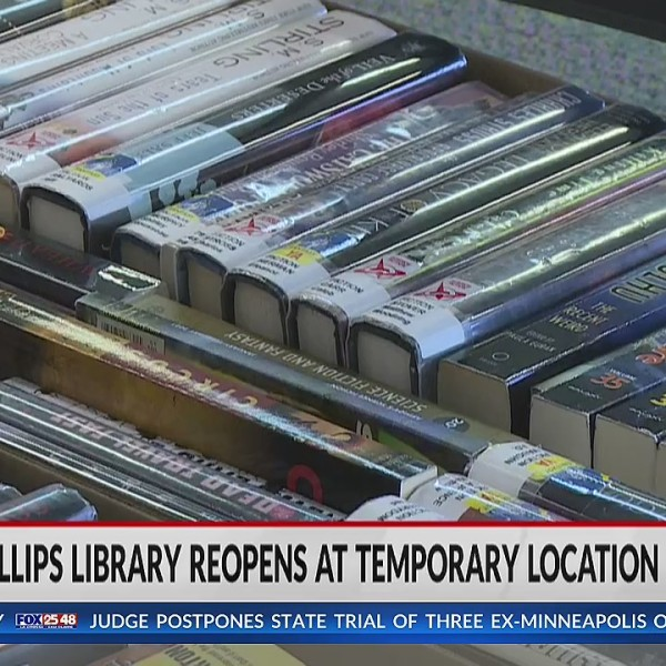 L.E. Phillips Memorial Public Library reopens in temporary location