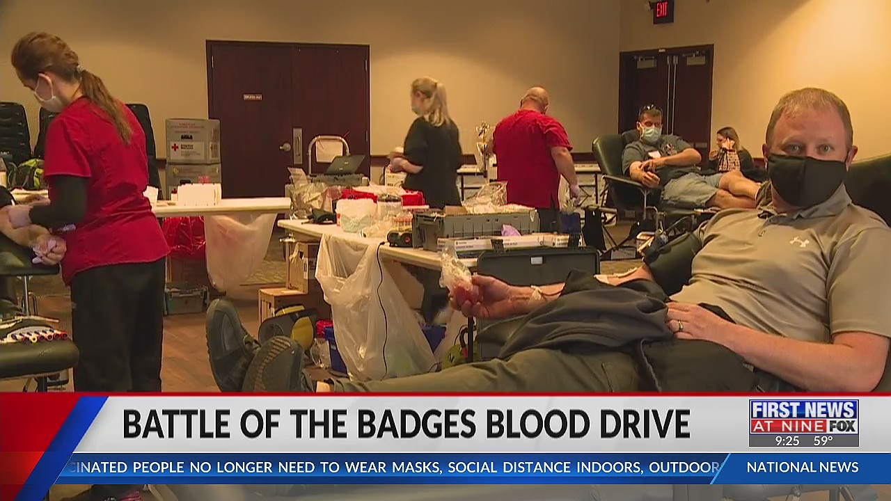 Menomonie first responders have a friendly competition to donate blood