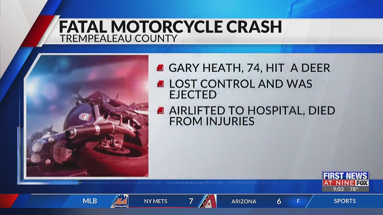 74-year-old man dies from injuries sustained in Trempealeau County motorcycle crash