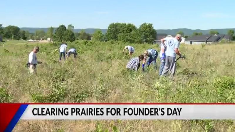 FOX2548 members help eliminate invasive species in the Holland Sand Prairie