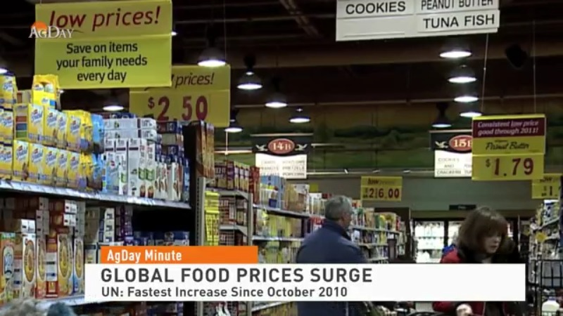 Global food prices are surging