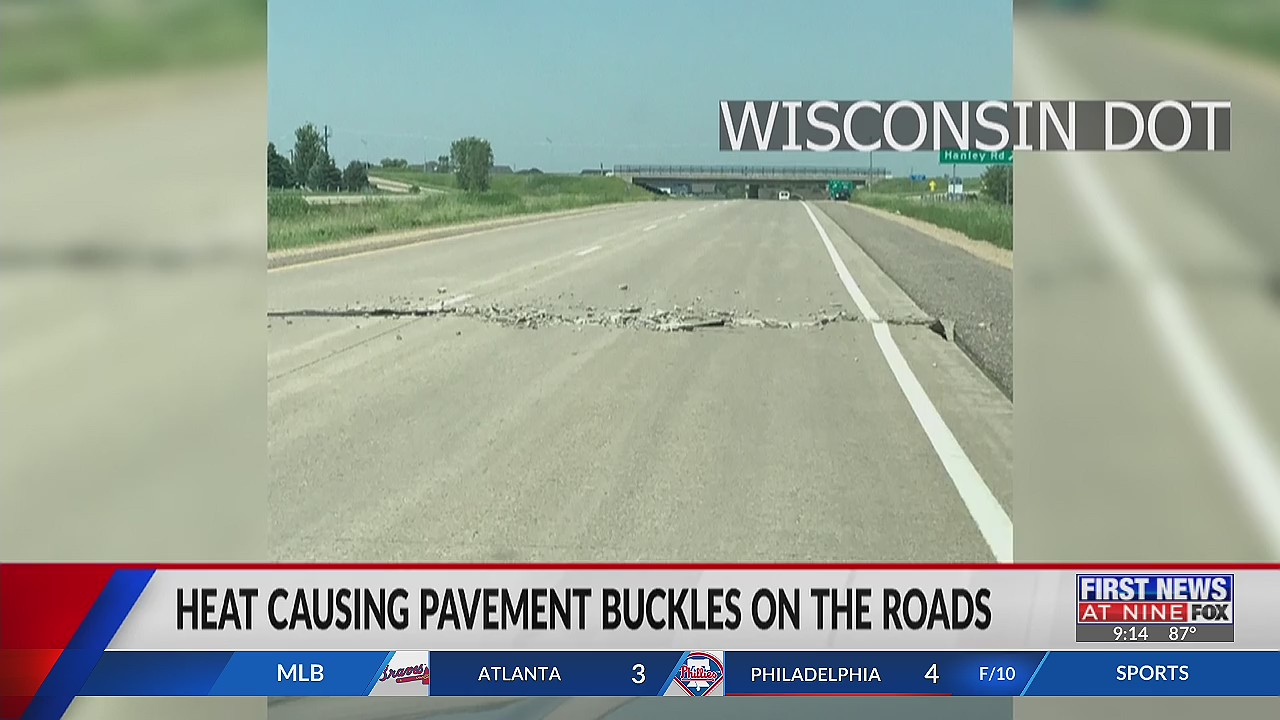 Pavement buckles on WI highways a risk to drivers in extreme heat