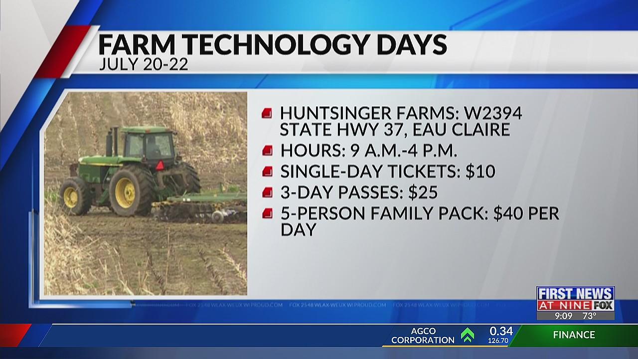 Wisconsin Farm Technology Days returns July 20-22