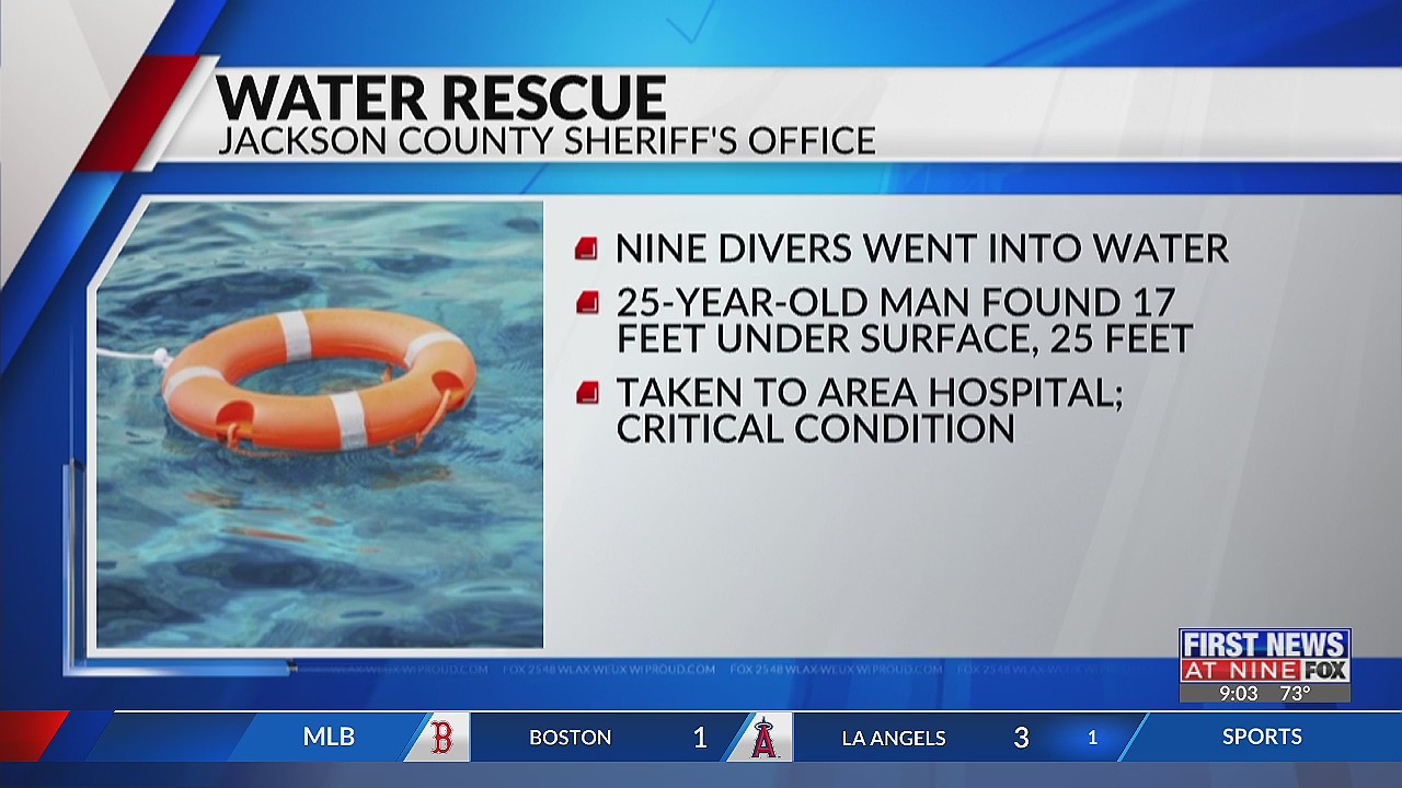 Arcadia man in critical condition after near-drowning in Jackson County's Wazee Lake