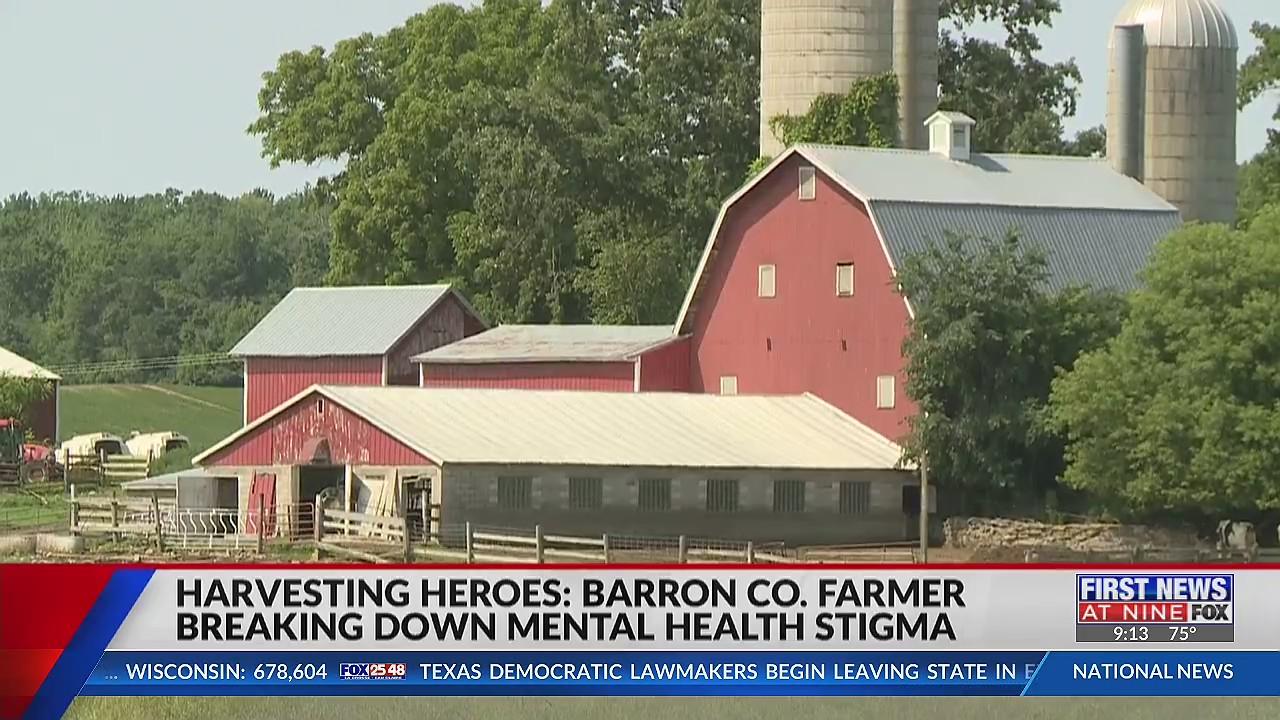 Barron County farmer breaks down mental health stigma