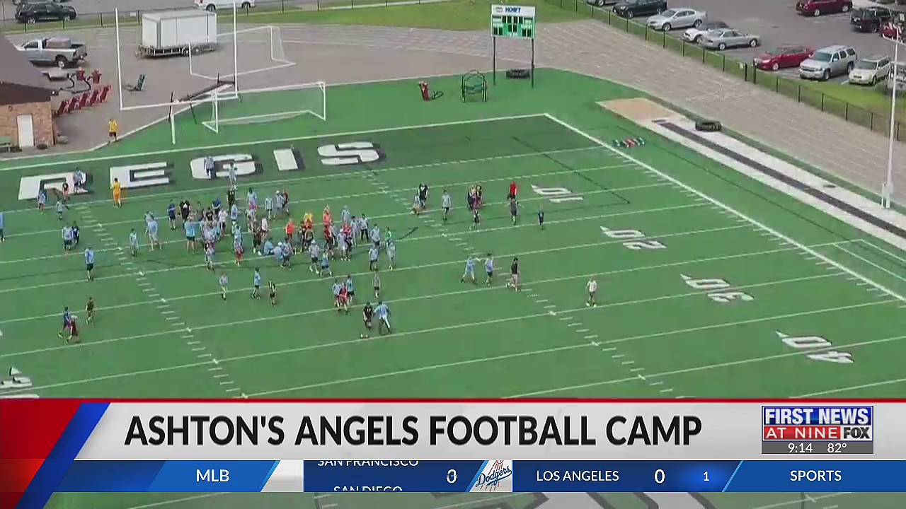 Father holds football camp