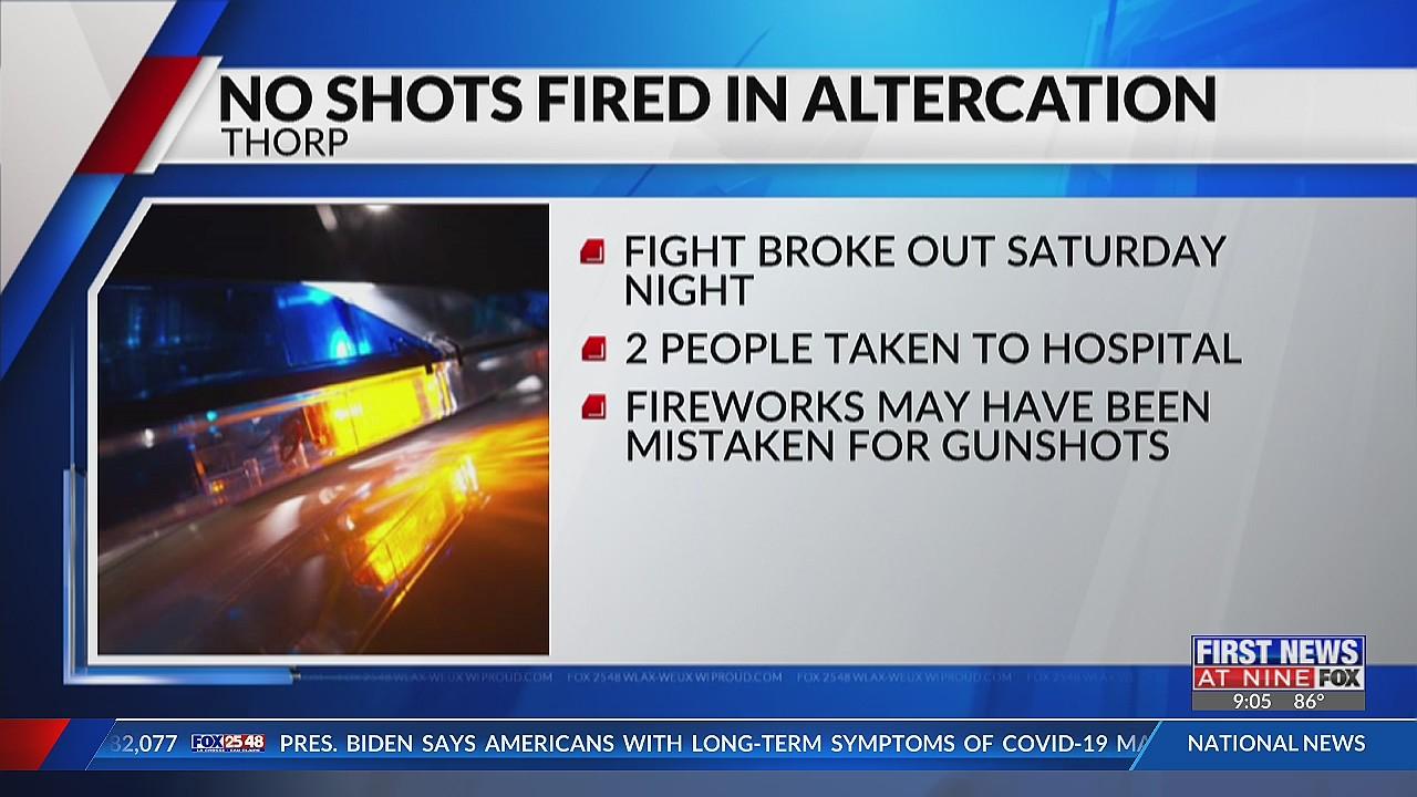 Fireworks mistaken for gunshots in Thorp Saturday night