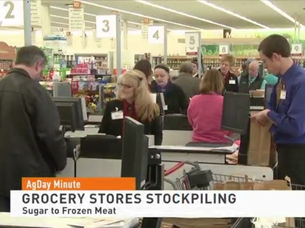 Grocery stores starting to stockpile