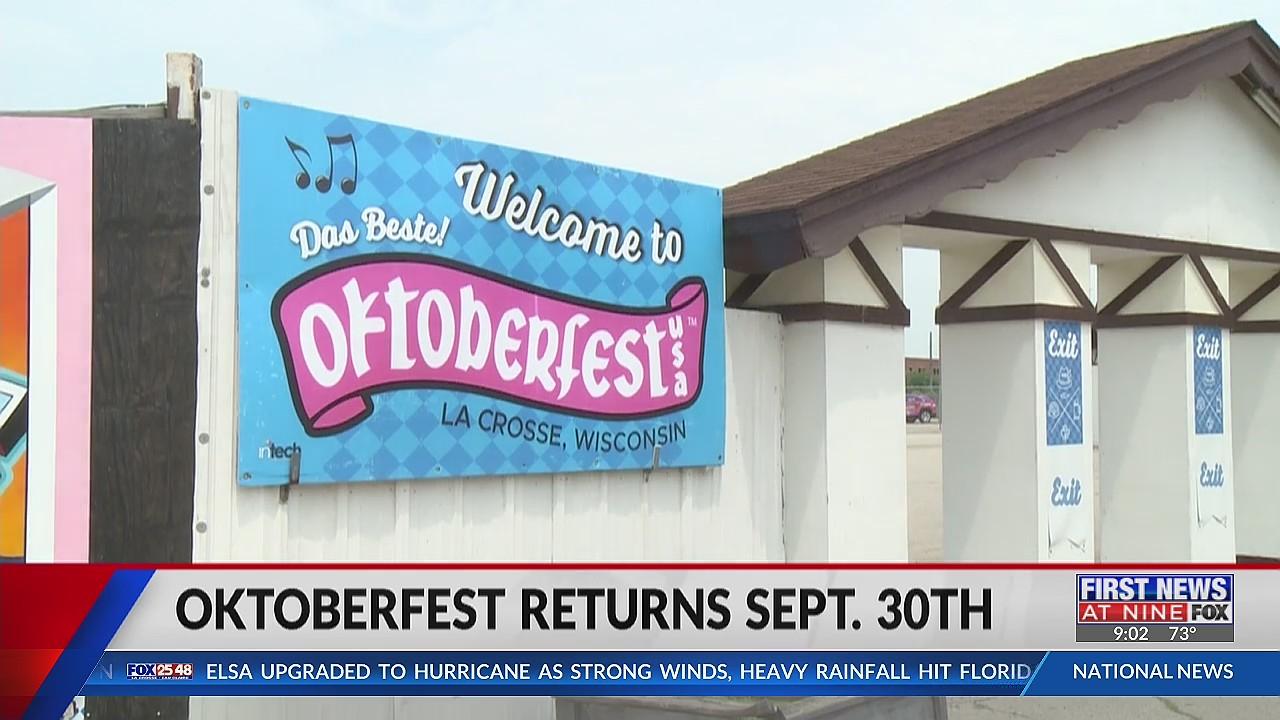 Oktoberfest returning to La Crosse Sept. 30th-Oct. 3rd