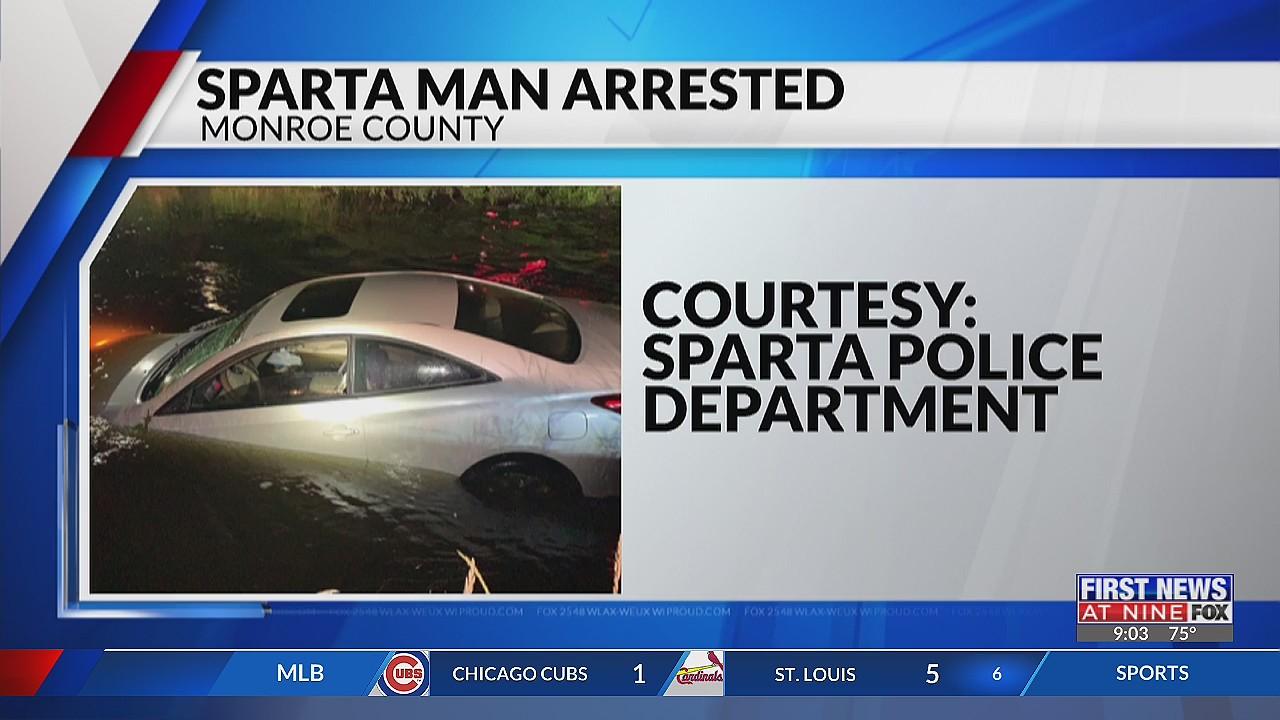 Sparta man arrested after his car was floating down La Crosse River