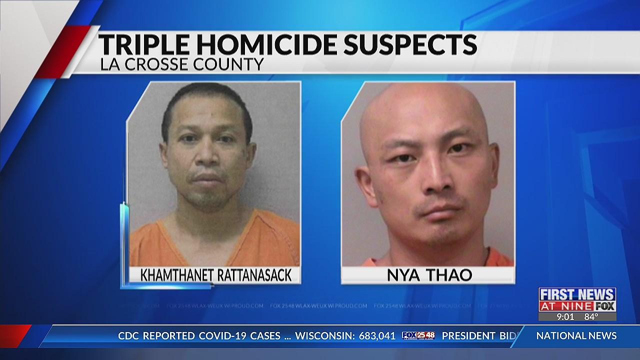 Suspects named in La Crosse County triple homicide