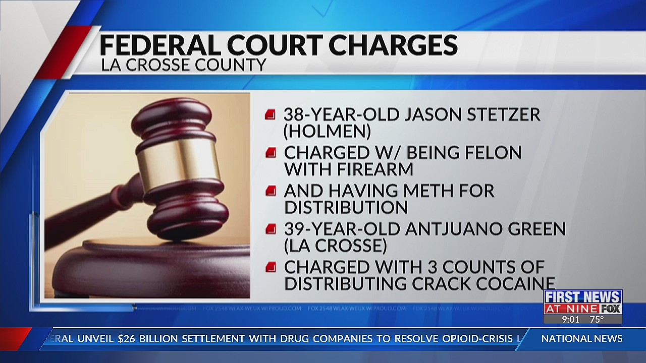 Two La Crosse County men charged in federal court