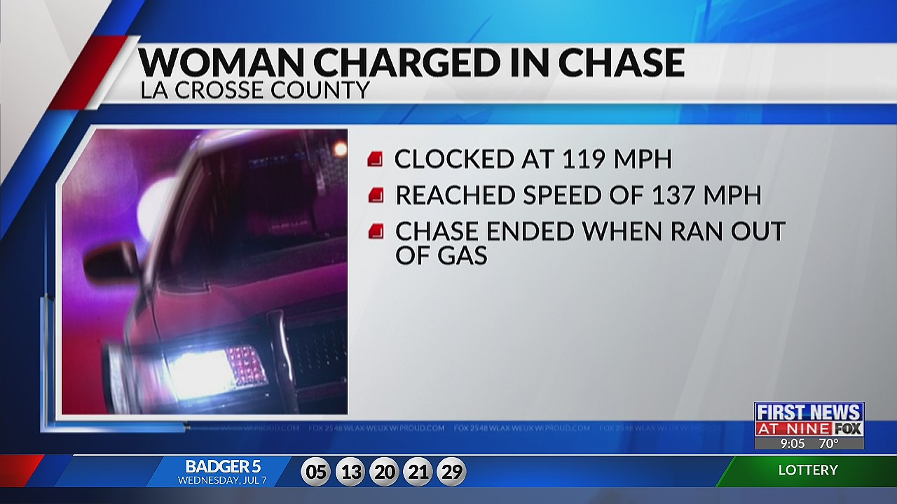 Woman charged with driving 140 mph on interstate near La Crosse