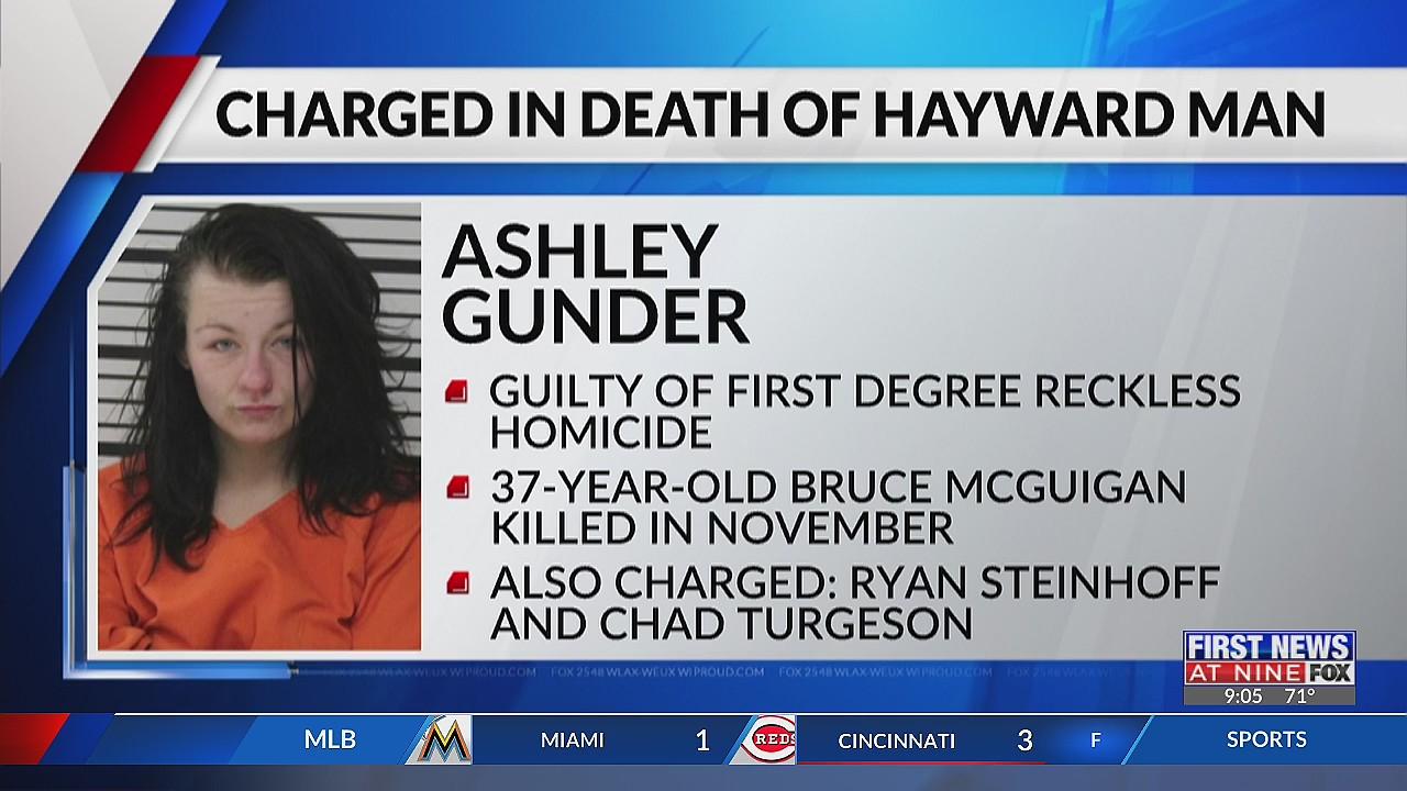 Menomonie woman pleads no contest in Hayward man's death