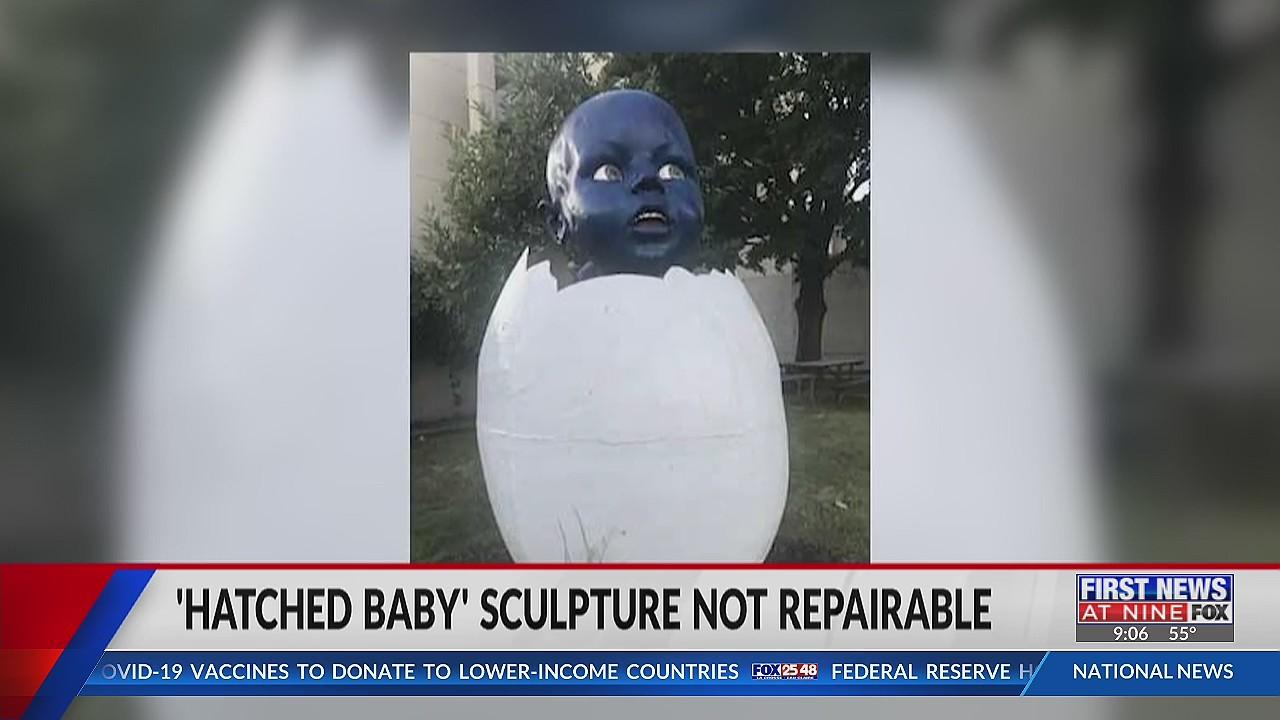 La Crosse's 'Hatched Baby' sculpture not repairable