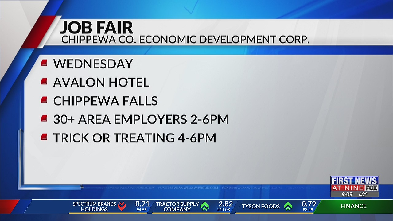 Chippewa County job fair in celebration of Chippewa County manufacturing month